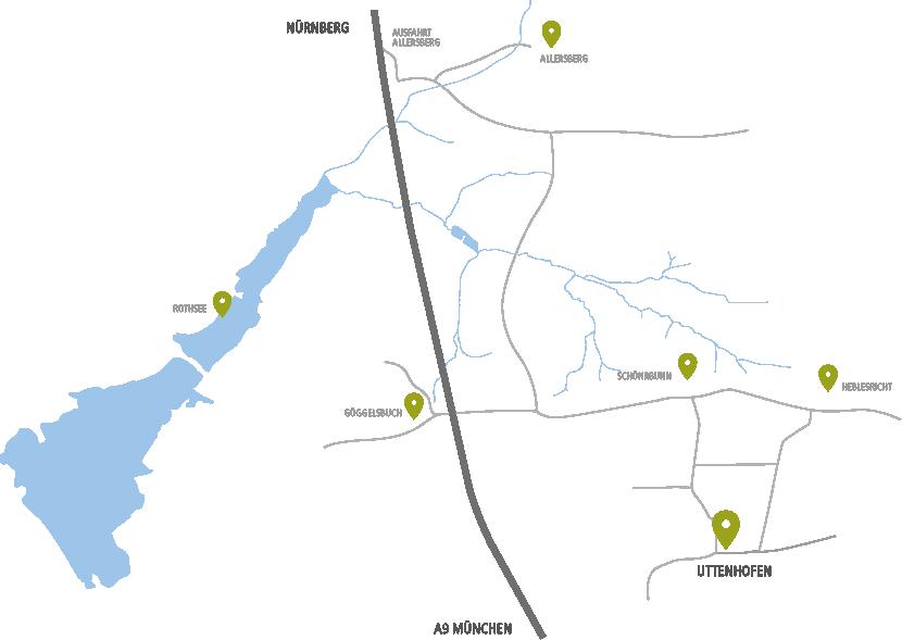 Burgschmidt Kontakt - Landkarte