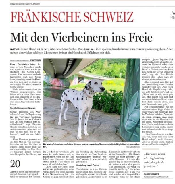 Eileen und Franz in der Zeitung